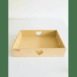 Caja de Madera Desayuno Sorpresa Corazón-Se venden mínimo 100 Unidades 40x30, x8 alto