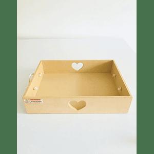 Caja de Madera Desayuno Sorpresa Corazón-mínimo 50 Unidades 40x30, x8 alto
