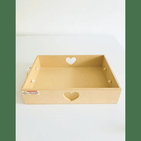 Caja de Madera Desayuno Sorpresa Corazón-mínimo 100 Unidades 40x30, x8 alto - Image 1