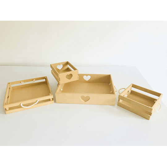 Caja de Madera Desayuno Sorpresa Corazón-mínimo 100 Unidades 40x30, x8 alto - Image 3