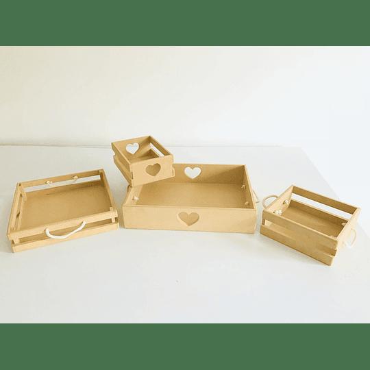 Caja de Madera Desayuno Sorpresa Corazón-Se venden mínimo 6 Unidades - Image 3