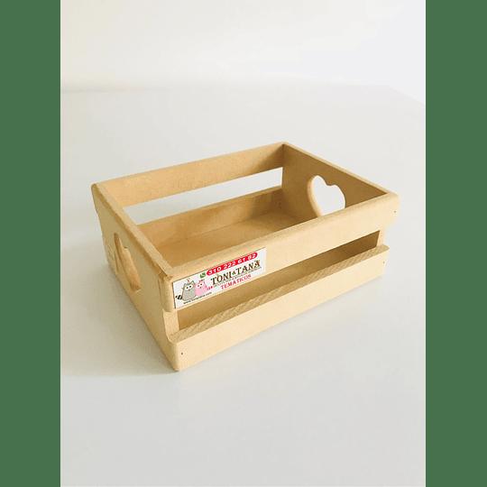 Caja de Madera Regalo Sorpresa Corazón Pequeña-mínimo 50 Unidades 20x16, x8 alto - Image 2