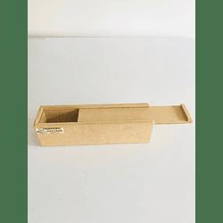 Caja de Madera para Flores o Fresas con Chocolate Pequeña-Se venden mínimo 100 Unidades 30x8, x8 alto