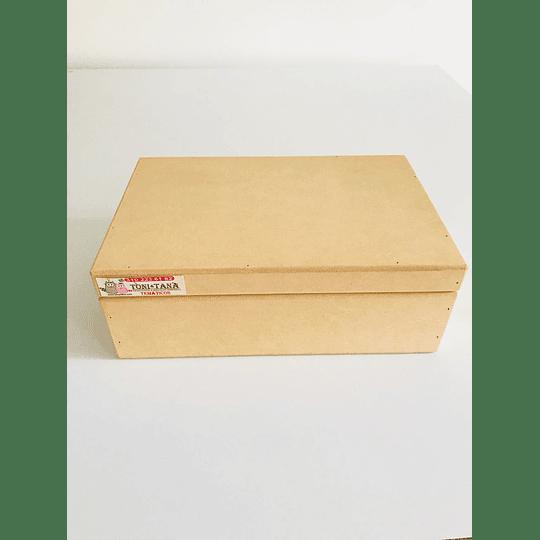 Caja de Madera Con Tapa-mínimo 50 Unidades 25x20, x9 alto - Image 1