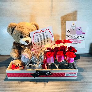 Flores Para Enamorar con Peluche- Pedido 2 días antes - DISPONIBLE SOLO CALI