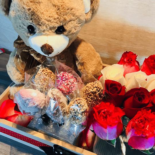 Flores Para Enamorar con Peluche - Image 2