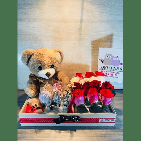 Flores Para Enamorar con Peluche- Pedido 2 días antes - DISPONIBLE SOLO CALI - Image 3