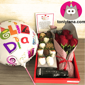Regalos Sorpresa Rosas Feliz día- Pedido 2 días antes