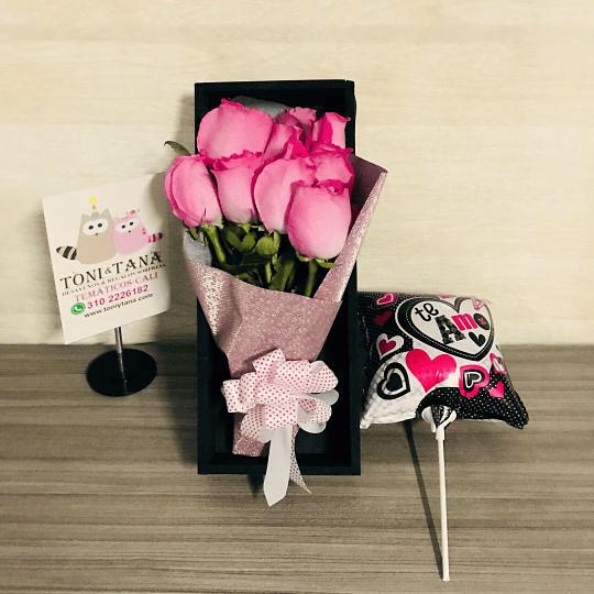 Rosas en Caja de Madera Regalo Sorpresa - Image 2