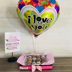 Fresas con Chocolate Te Amo San Valentin- Pedido 2 días antes - DISPONIBLE SOLO CALI