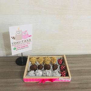 Fresas con Chocolate Caja Mixta- Pedido 2 días antes - DISPONIBLE SOLO CALI