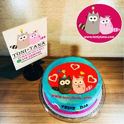 Tortas Temáticas con Logo Corporativo TONI Y TANA