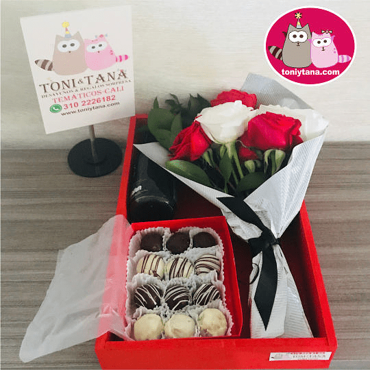 Flores Sorpresa de Amor o Amistad Con Trufas de Chocolate - Image 3
