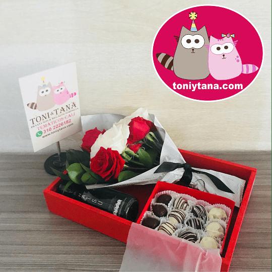 Flores Sorpresa de Amor o Amistad Con Trufas de Chocolate - Image 4
