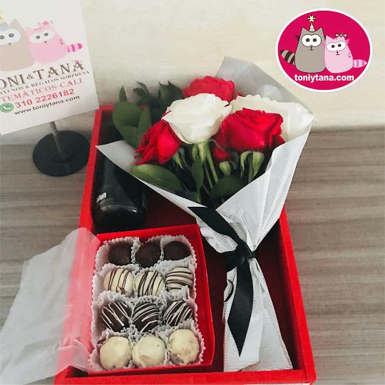 Flores Sorpresa de Amor o Amistad Con Trufas de Chocolate - Image 2