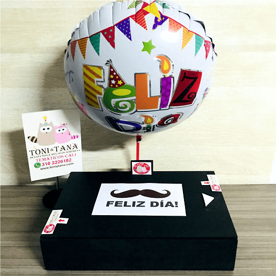 Regalo Sorpresa en Caja Feliz Día Papá con bonos de amor - Image 3