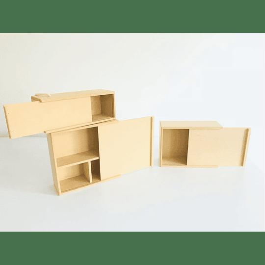 Caja de Madera Para Regalo Sorpresa con divisiones-mínimo 50 Unidades 35x25, x 8 alto - Image 4