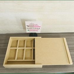 Caja de Madera Para Regalo Sorpresa con divisiones-mínimo 50 Unidades 35x25, x 8 alto