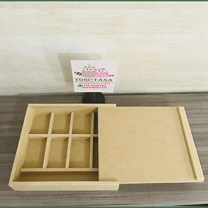 Caja de Madera Para Regalo Sorpresa con divisiones-Se venden mínimo 100 Unidades 35x25, x 8 alto