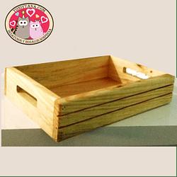 Cajas y bandejas en madera Pino Mdf y Natural -Se venden MÍNIMO 25 unidades