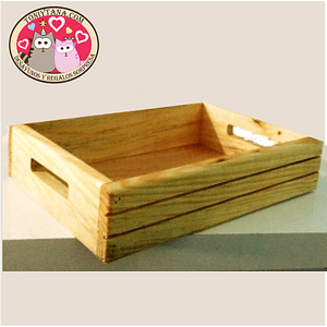 Cajas y bandejas en madera Pino Mdf y Natural -MÍNIMO 100 unidades