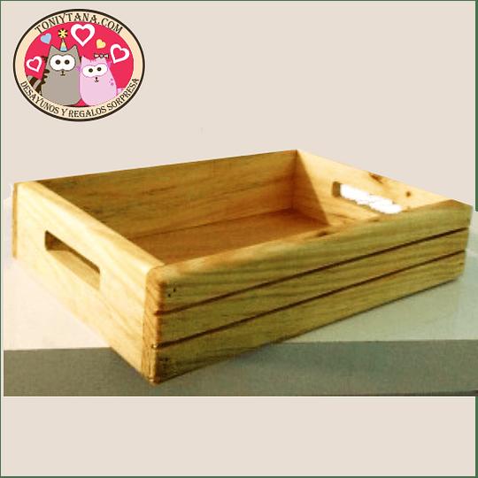 Cajas y bandejas en madera Pino Mdf y Natural -Se venden MÍNIMO 100 unidades