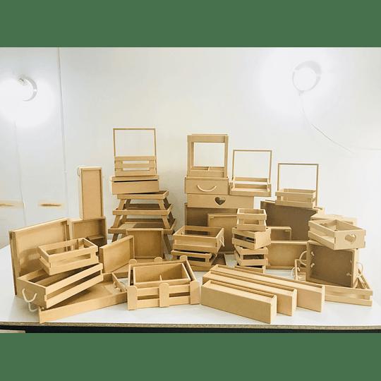 Cajas y Bandejas en Madera Pino Mdf y Natural Punto de Fabrica - Image 2