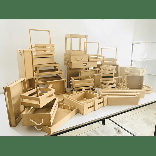 Cajas y Bandejas en Madera Pino Mdf y Natural Punto de Fabrica--Se venden mínimo 100 unidades - Image 3