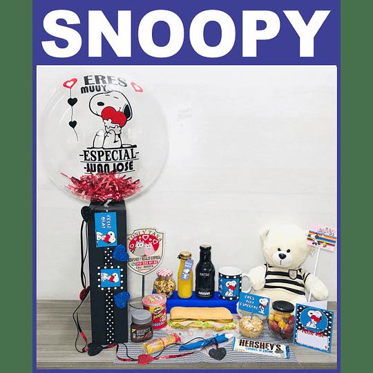 Desayuno Sorpresa PARA NOVIOS Temático Regalo Snoopy - Image 1