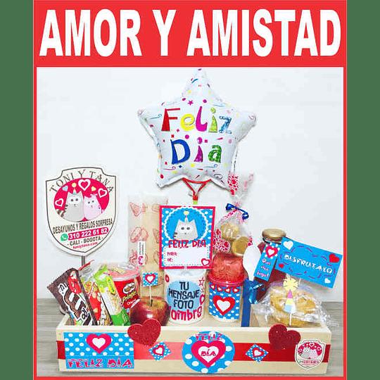 Desayuno Regalo Sorpresa AMOR Y AMISTAD - Image 1