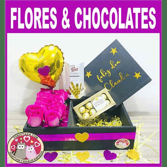 En Amor y Amistad Regala Flores y Chocolates - Image 1