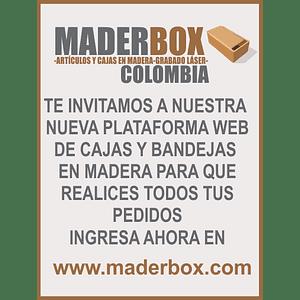 Cajas y Bandejas en Madera Pino Mdf y Natural Punto de Fabrica--Se venden mínimo 6 unidades en adelante