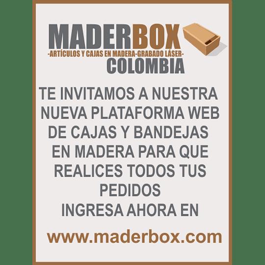 Cajas y Bandejas en Madera Pino Mdf y Natural Punto de Fabrica--Se venden mínimo 6 unidades en adelante - Image 1