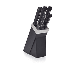 SET 5 CUCHILLOS KITCHEN CRAFT BASE NEGRA