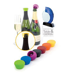 SET 2 TAPONES SILICONA CHAMPAGNE