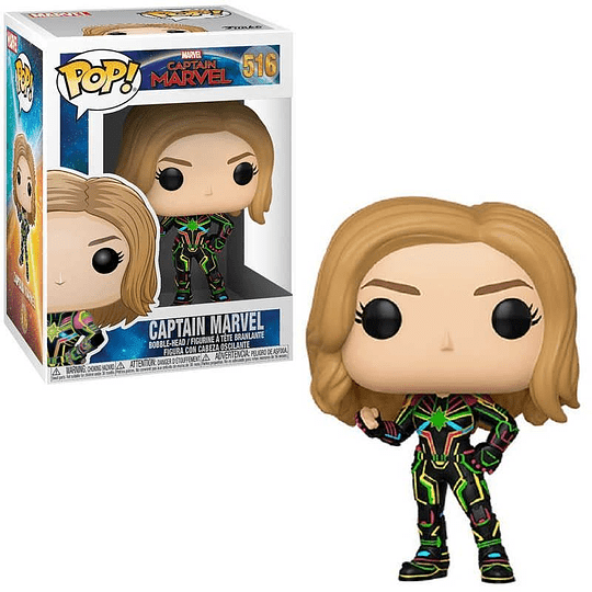 FUNKO POP! Marvel - Captain Marvel with Neon Suit