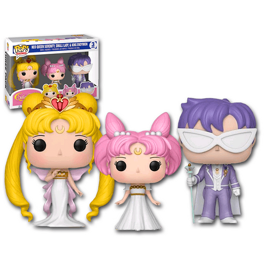 FUNKO POP DELUXE! Animation - Sailor Moon: Neo Queen Serenity, Small Lady & King Endymion