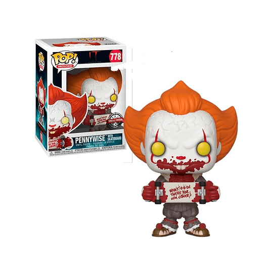 FUNKO POP! Movies - It: Pennywise with Skateboard Special Edition