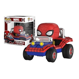 FUNKO POP DELUXE! Rides- Marvel: Spider-man with Spider Mobile