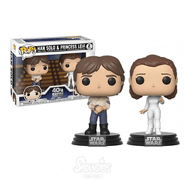 FUNKO POP DELUXE! Star Wars - Han Solo & Princess Leia