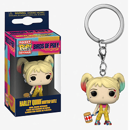 POCKET POP! KEYCHAIN! Birds of Prey - Harley Quinn Boobytrap Battle