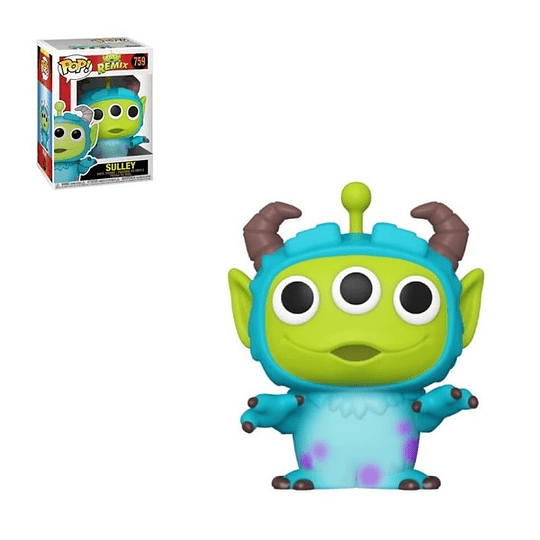 FUNKO POP DELUXE! Disney - Remix: Alien Sulley 10´´ Super Sized