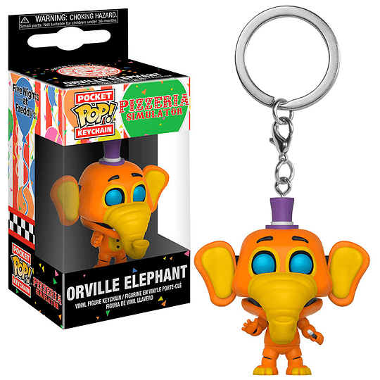 POCKET POP KEYCHAIN! Pizzeria Simulator - Orville Elephant