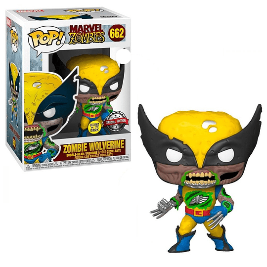 FUNKO POP! Marvel - Zombies: Zombie Wolverine Glows in the Dark Special Edition