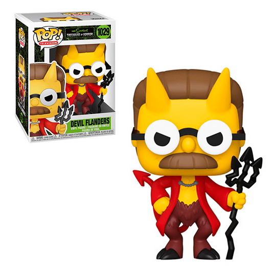 FUNKO POP! Television - The Simpsons Treehouse of Horror: Devil Flanders Glows in the Dark Special Edition