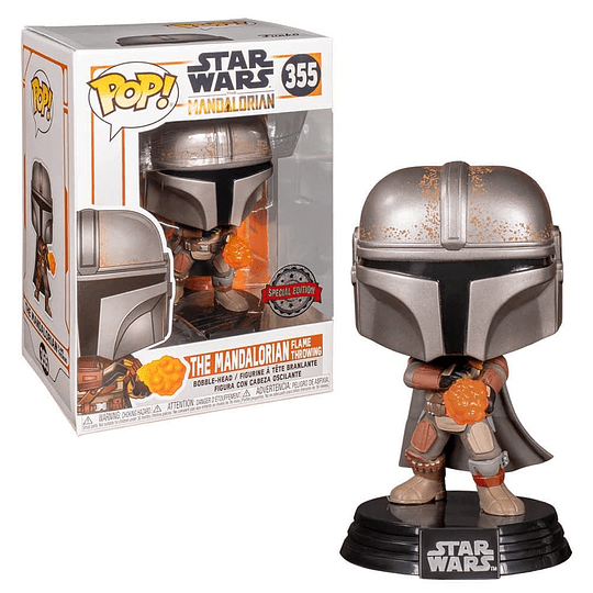 FUNKO POP! Star Wars - The Mandalorian: The Mandalorian Flame Throwing Special Edition