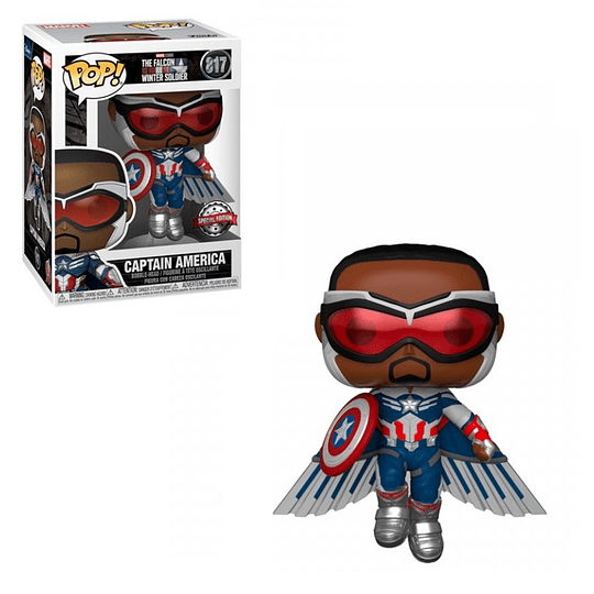 FUNKO POP! Marvel - The Falcon and the Winter Soldier: Falcon Captain America Flying Special Edition