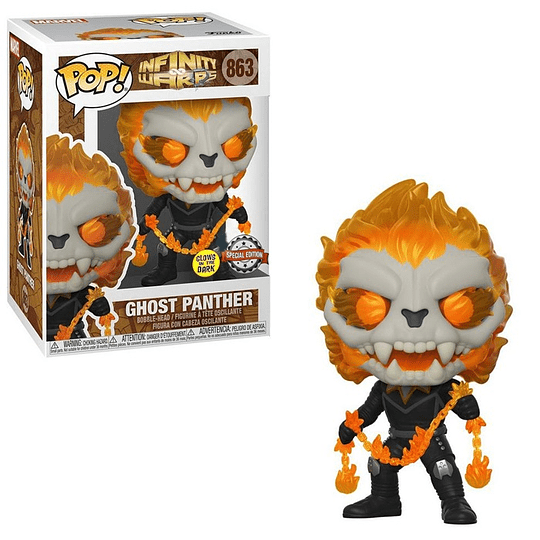 FUNKO POP! Marvel - Infinity Warps: Ghost Panther Glows in the Dark Special Edition