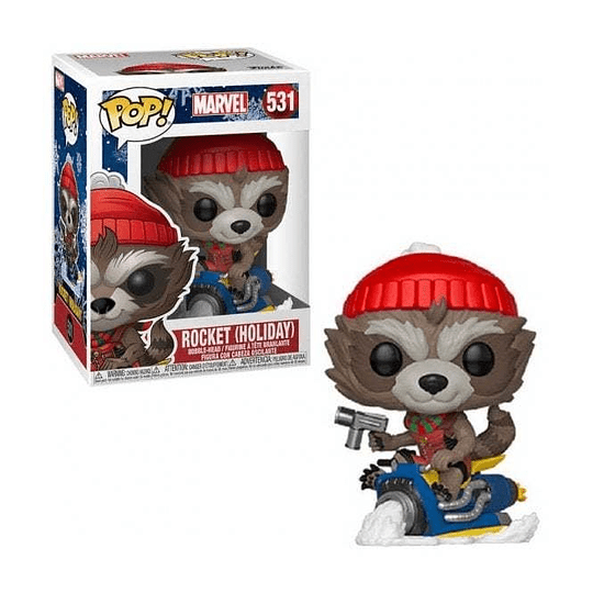 FUNKO POP! Marvel - Rocket Holiday