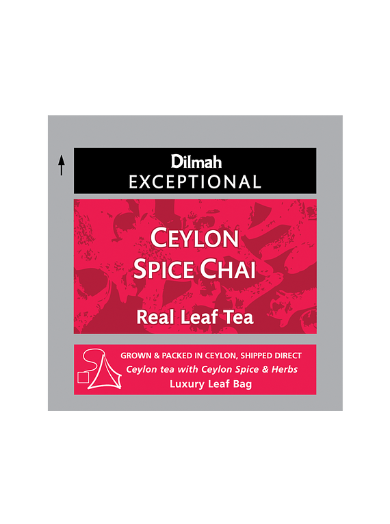 DILMAH EXCEPTIONAL CEYLON SPICE CHAI TEA - 50 Un.